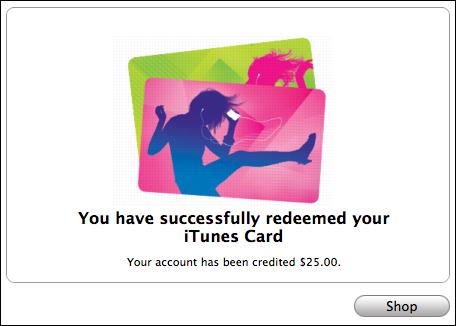 ซื้อบัตรของขวัญ iTunes ออนไลน์ด้วยบัตรของขวัญแอปเปิ้ล
